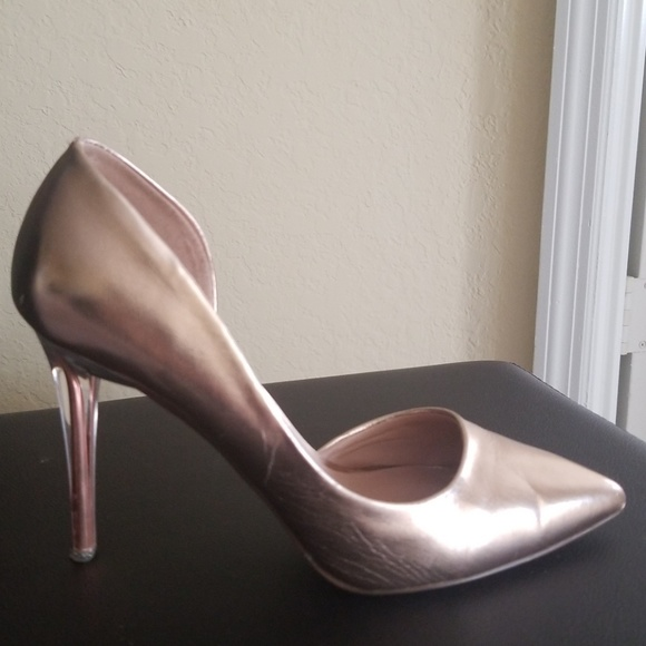 4763c36006e72 Call It Spring Shoes | Metallic Clear Heels | Poshmark